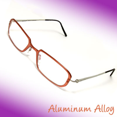 50 x 19 Optical Eyeglasses Specs Eyewear Aluminum Alloy Frame w/ Slim Temple