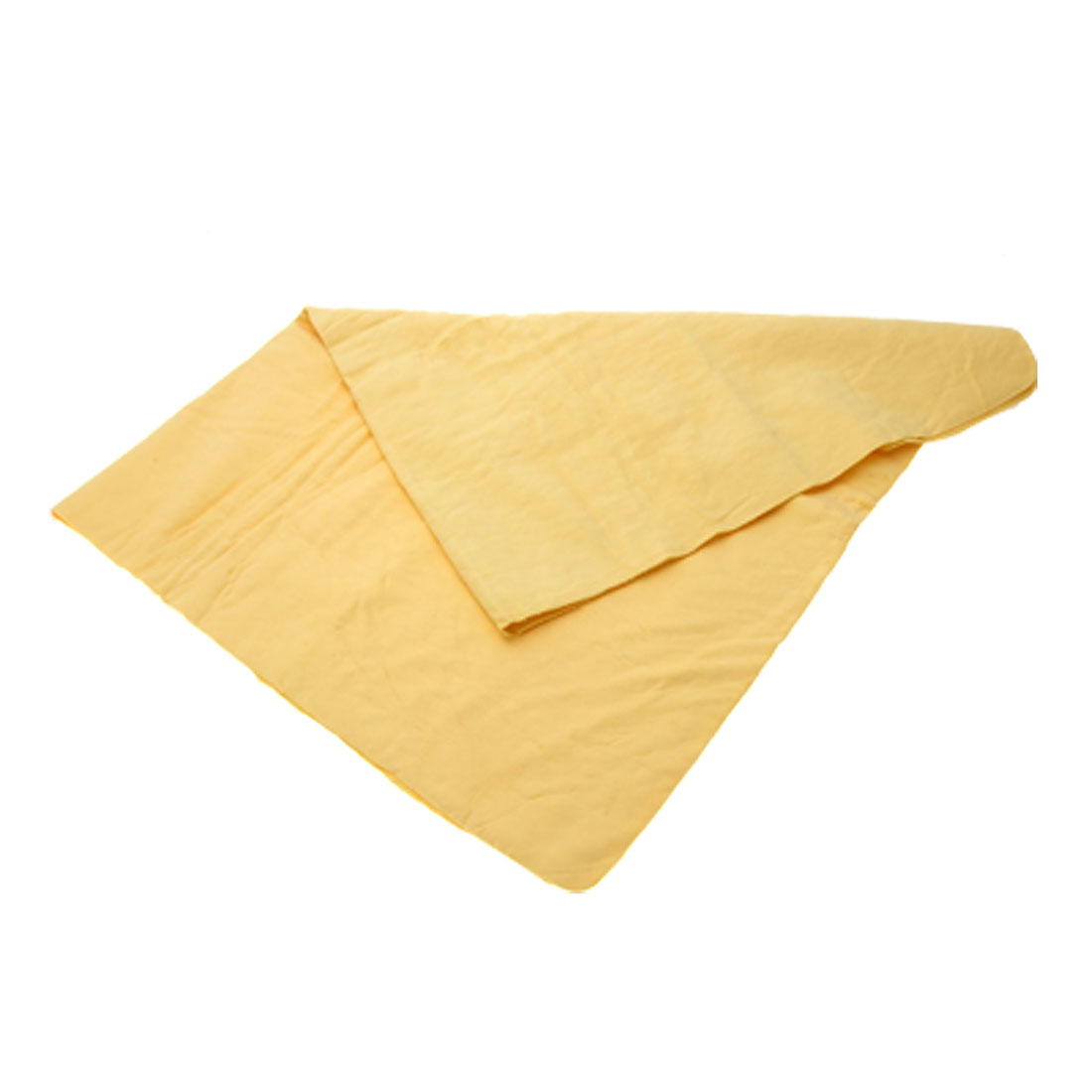 Yellow Synthetic Chamois Car Glass Clean Towel