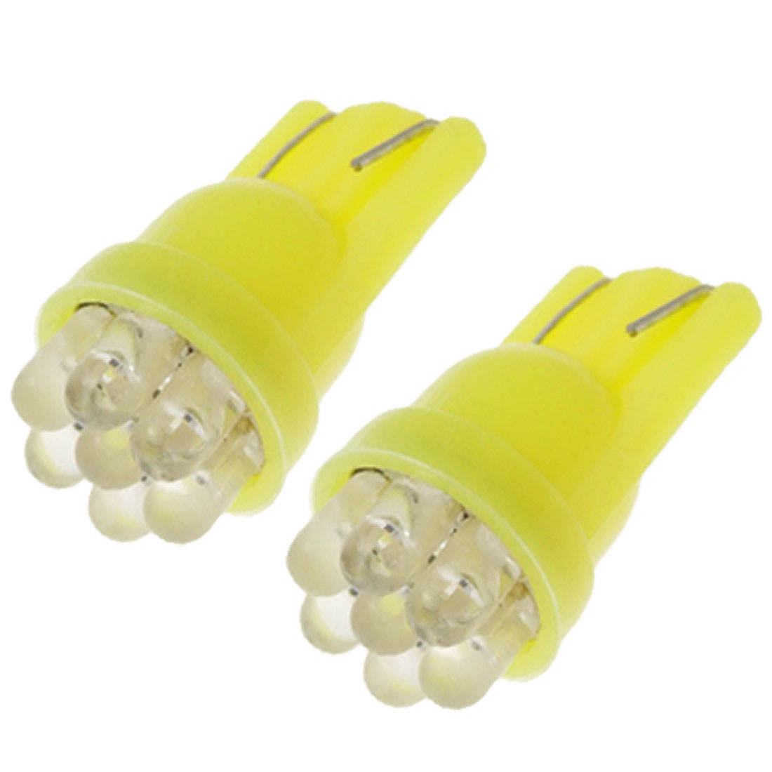 Mini T10 7 LED Yellow Light 12V Car Auto Lamp Bulb 2PCS