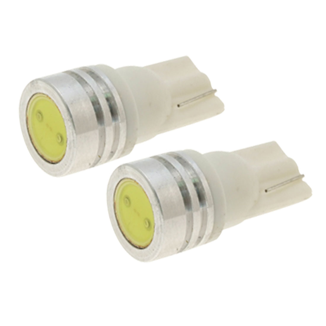 2 Pcs 0.5W LED White Dashboard T10 Side Light Bulbs for W5W 194