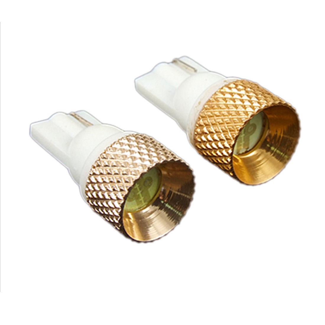 Pair White LED T10 194 168 W5W Wedge Bulbs Side Light 12V for Car