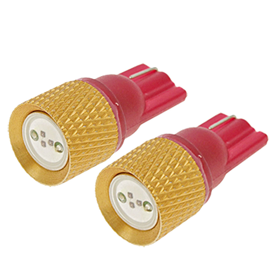 Pair T10 194 Red LED Car Auto Wedge Bulbs Lights Lamps 12V