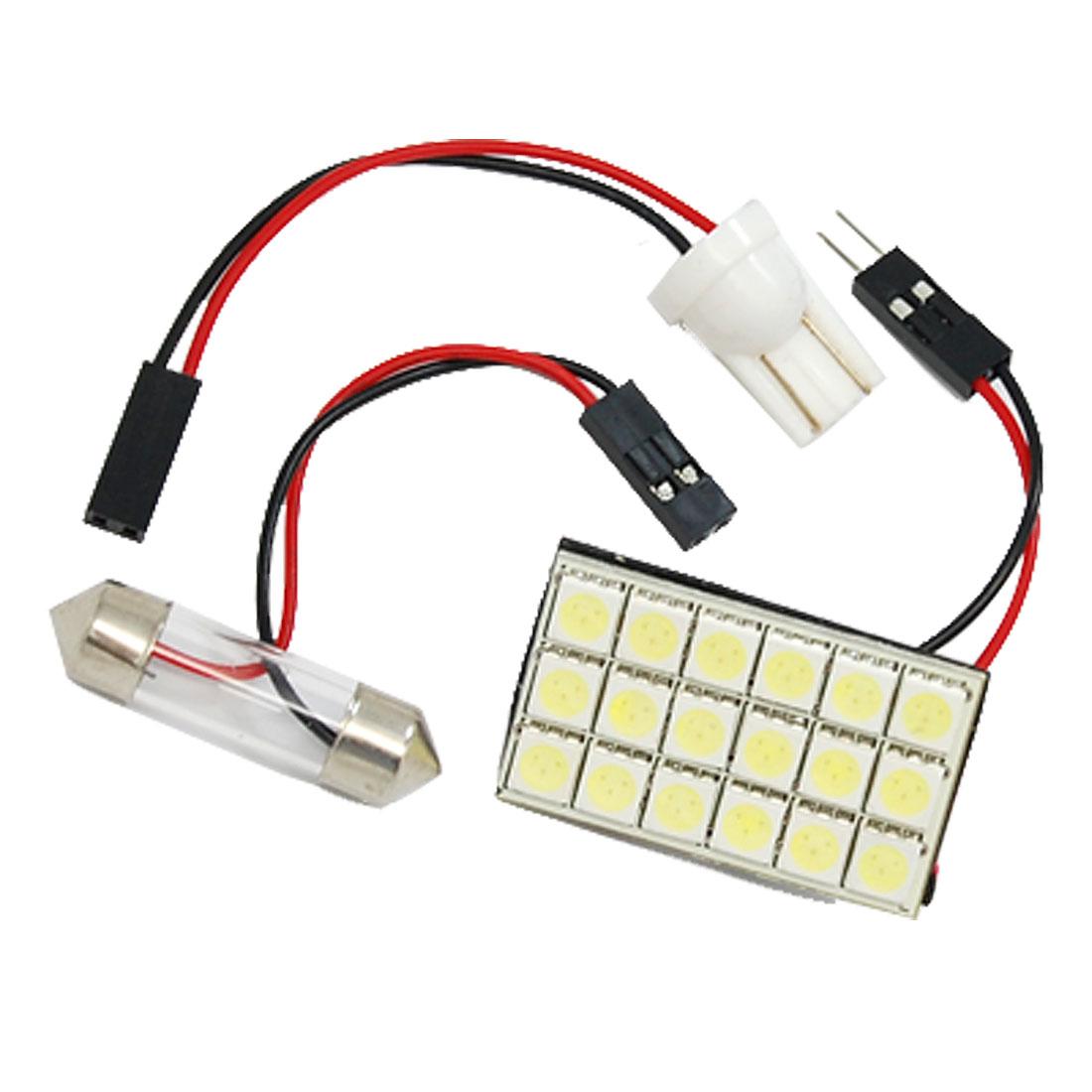 Car 18 5050 SMD LED Dome Light Bulb T10/Festoon White 12V