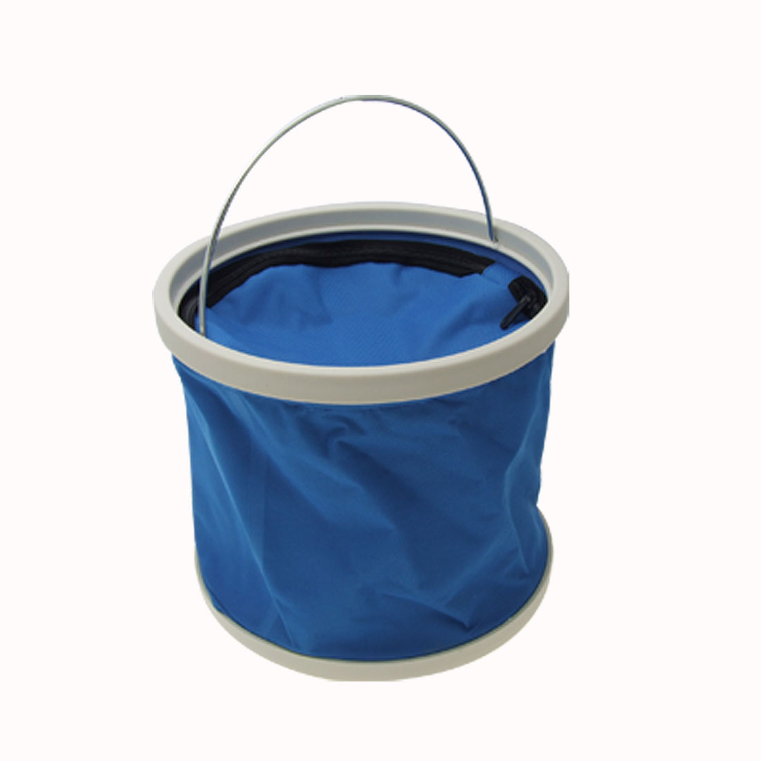 Blue Portable Folding Water Bucket Pail 8L with Cover