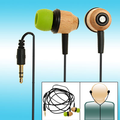 3.5mm Wooden Noise Cancelling Stereo Microbon Earphone