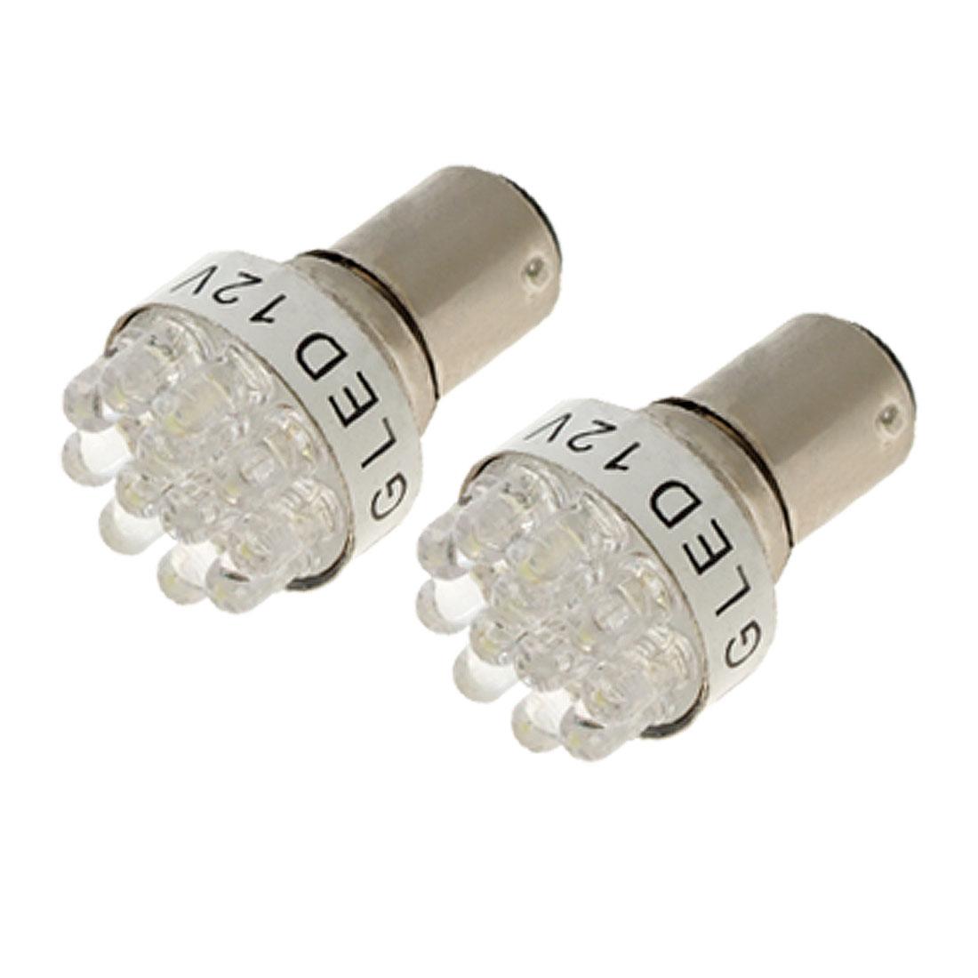 2 Pcs White Light 12 LED BAY15D 1157 Car Auto Tail Rear Turn Brake Bulb