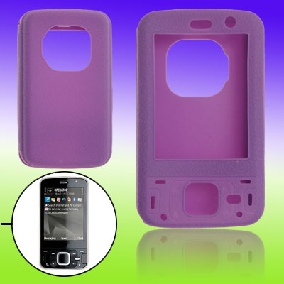 Purple Silicone Skin Case Cover Protector for Nokia N96