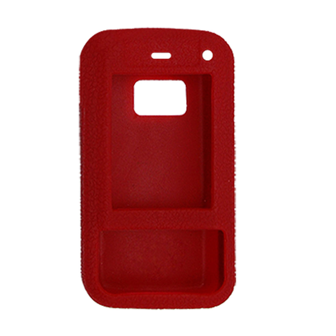 Red Textured Silicone Skin Case Cover for Nokia N81