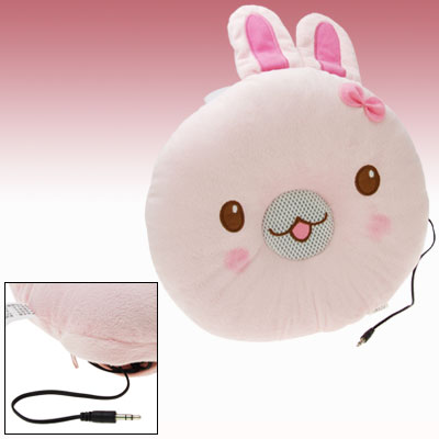 Rabbit Pattern Personal Musical Speaker Neck Pillow for MP3 Player