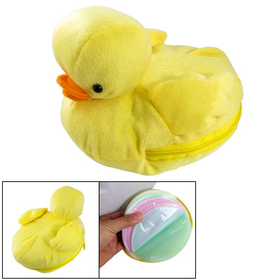 Yellow Duck Shaped Stuffed & Plush CD Storage Bag Holds 24 PCs