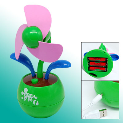 Flower Design USB Cooling Fan for Notebook / PC