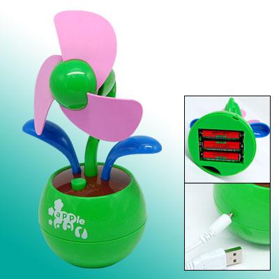 Flower Design USB Cooling Fan for Notebook / PC