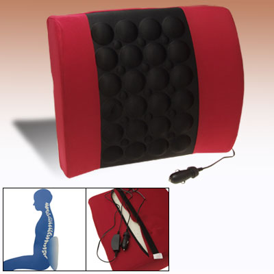 Car Auto Seat Mount Electric Massage Cushion Pad DC 12V