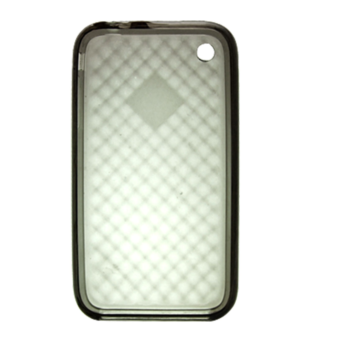 Anti-slip Inner Gray Soft Plastic Case Clear Back Cover for iPhone 3G