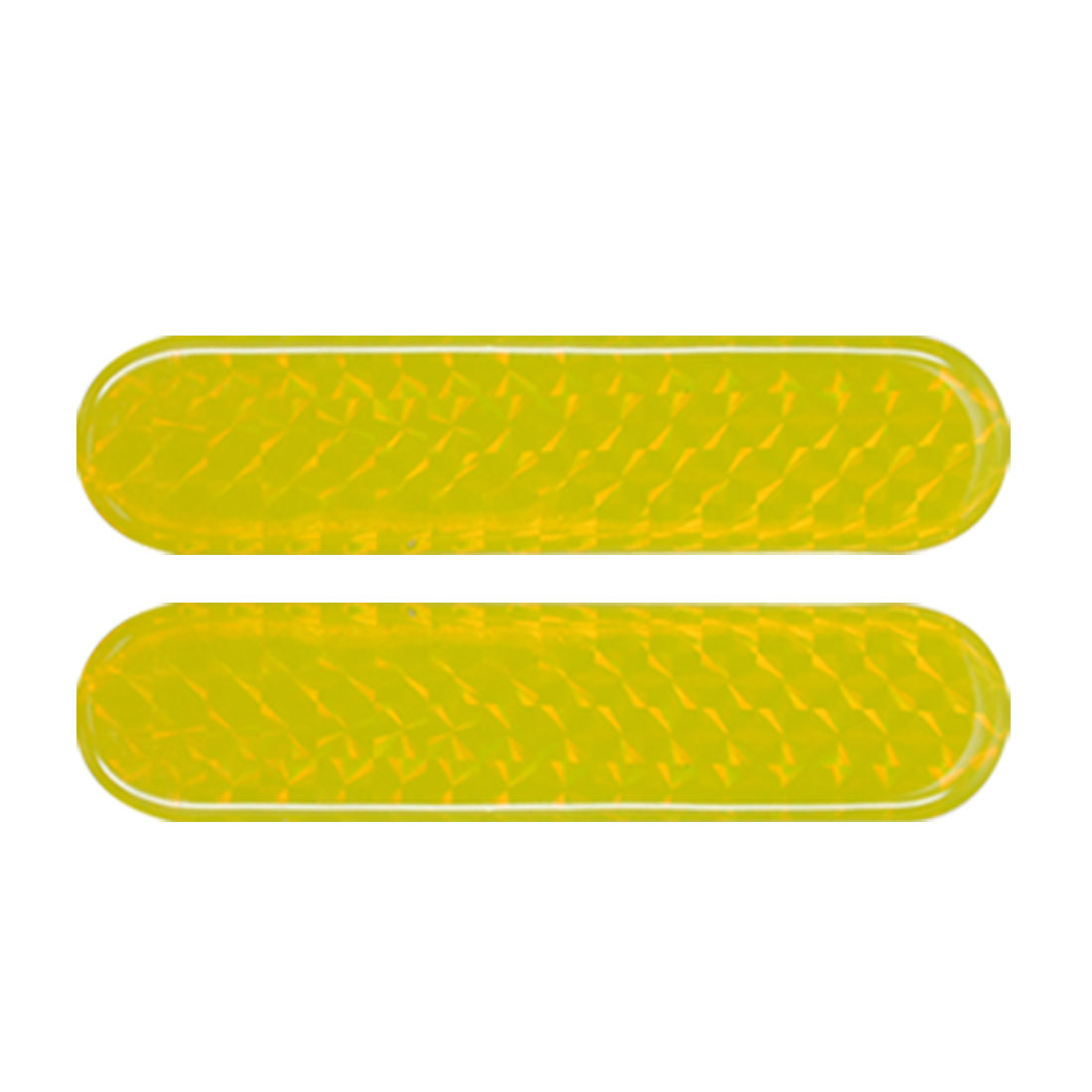 2 PCS Car Auto Safety Light Reflectors Yellow Stickers