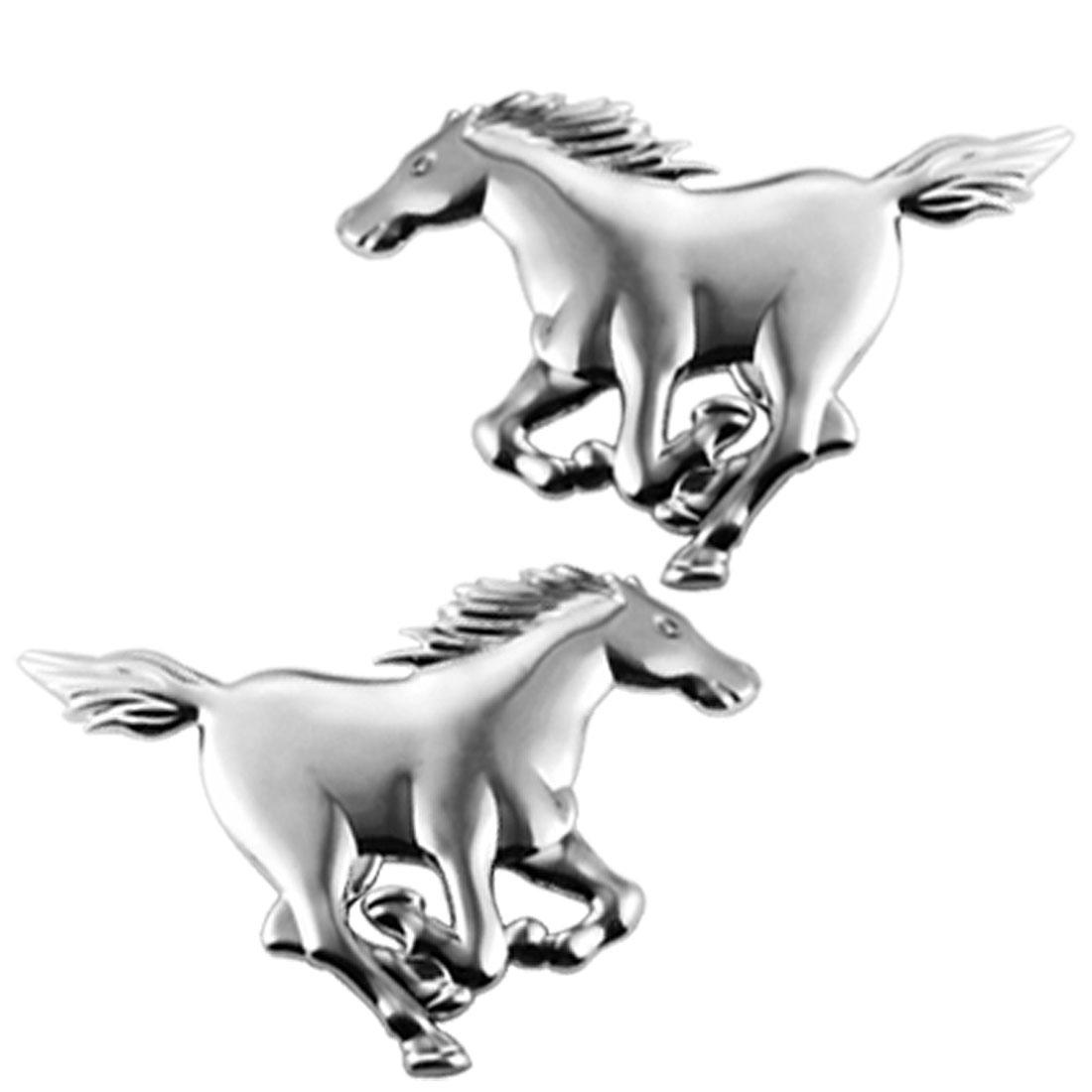 Horse Design Car Badge Emblem Sticker Auto Ornament Set
