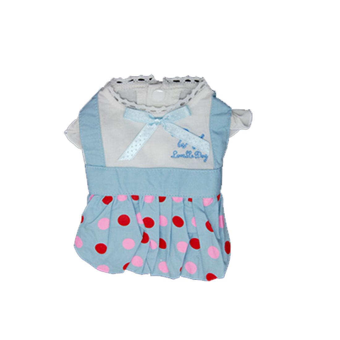 Size 4 Summer Pet Dog Puppy Dress Skirts Shirts With Scarf Polka Dots Apparel