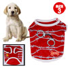 Small Red Casual Summer Pet Puppy Dog Chihuahua Apparel T Shirts Vest Size 3