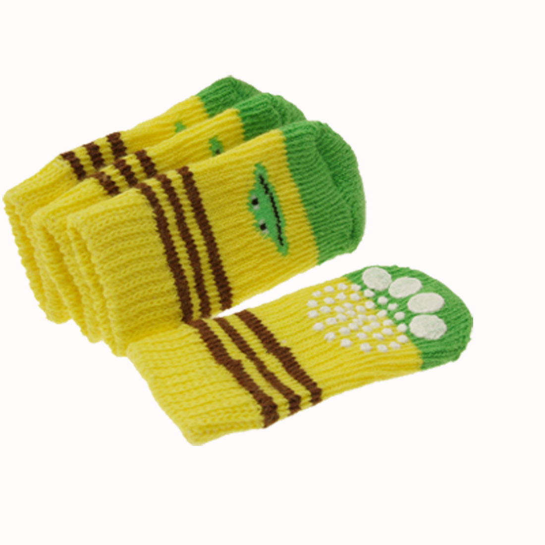 Nonskid Socks with Banana Pattern for Pet Dog Puppy Doggle Doggie 7.0 x 3.0cm
