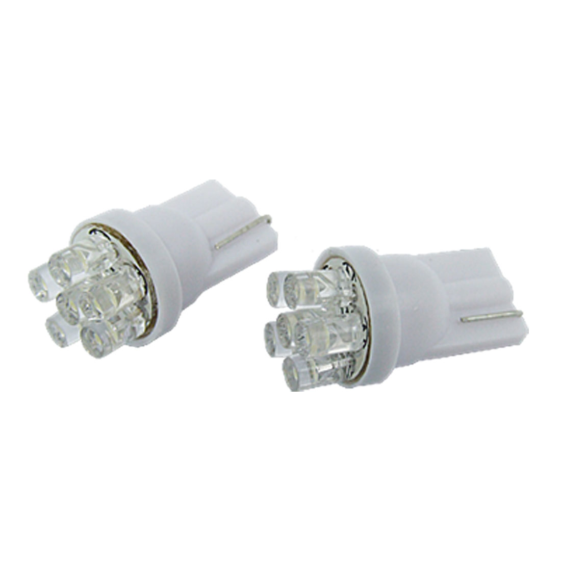 2x T10 Bulbs Side Light 194 168 W5W White 6 LED Wedge NEW