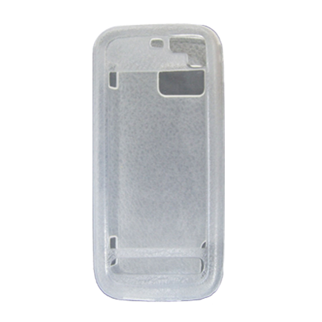 Frosted Clear White Soft Plastic Case Cover w/ Screen Visor for Nokia 5800