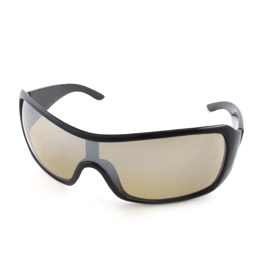 Women Ladies Cycling Black Frame Wide Lens Sunglasses Sports Eyewear