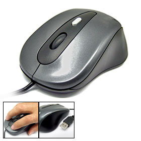 USB Scroll Wheel 3D Optical Mouse for PC Laptop 800 DPI