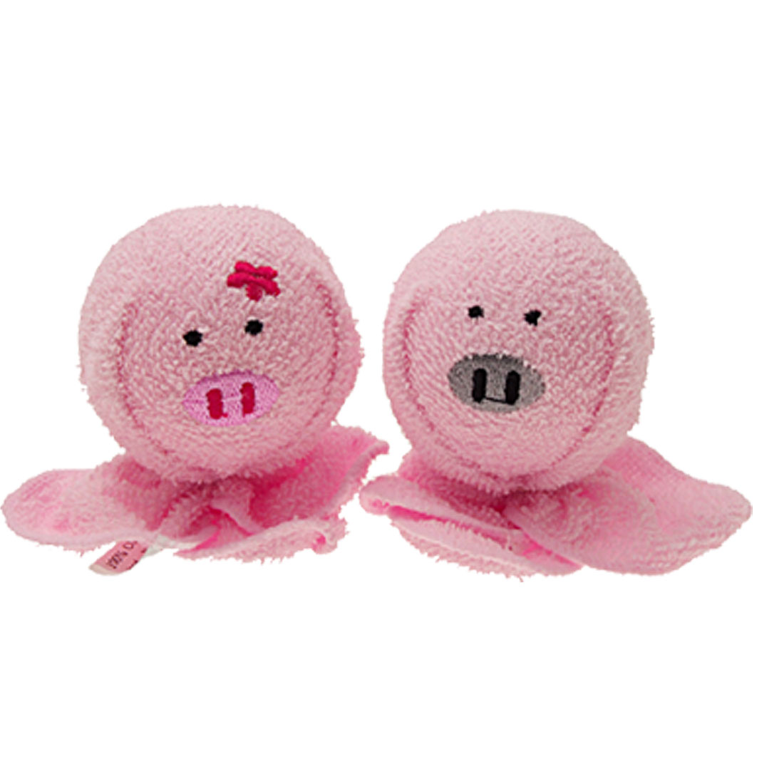 Pink Cute Round Pig Doll Round Pattern Cotton Towel