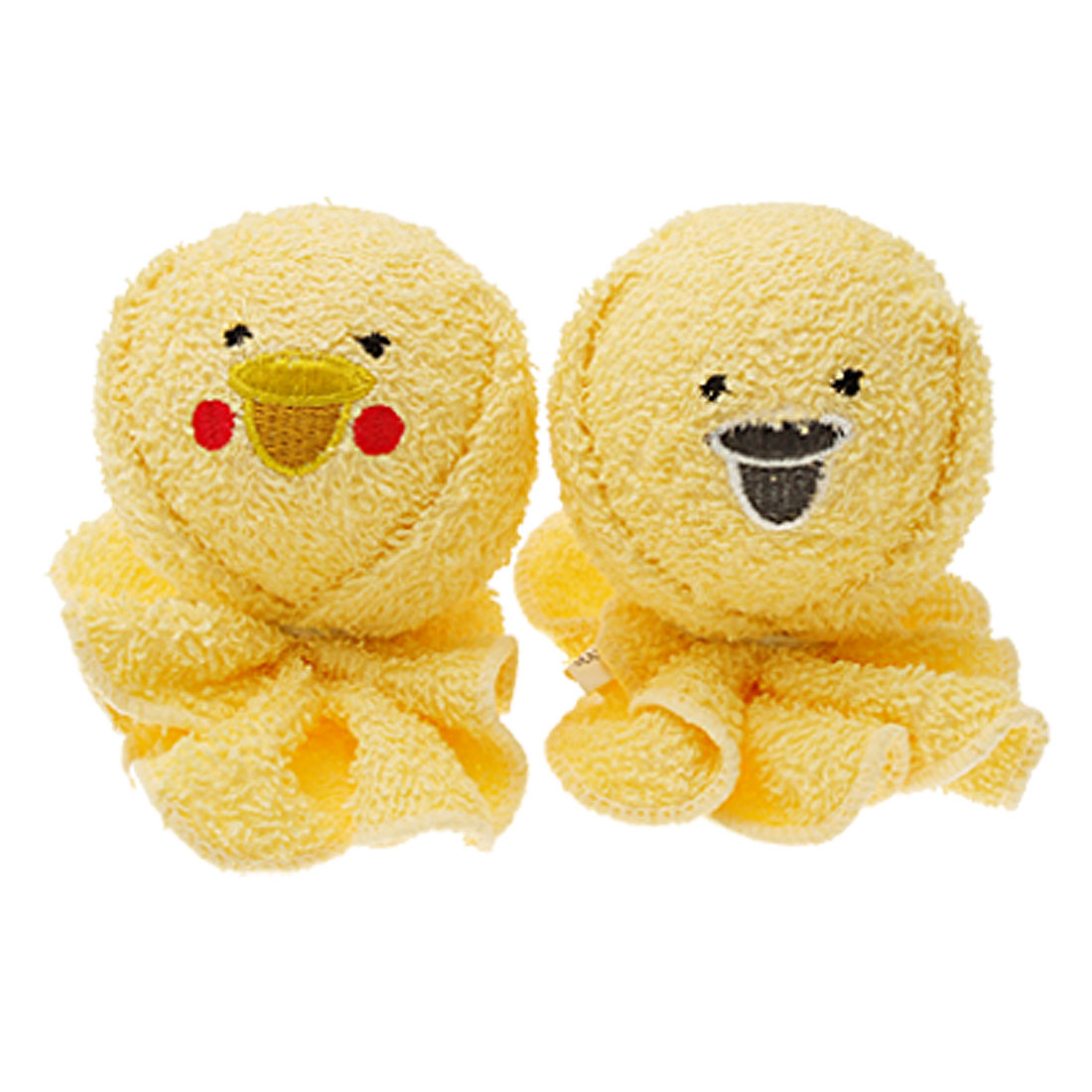 Yellow Cute Round Animal Doll Round Pattern Cotton Towel