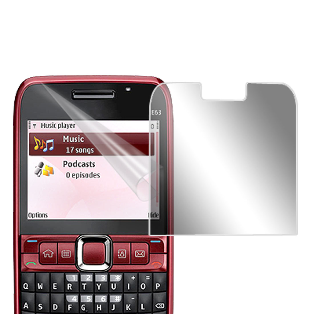 Clear LCD Screen Guard for Nokia E63