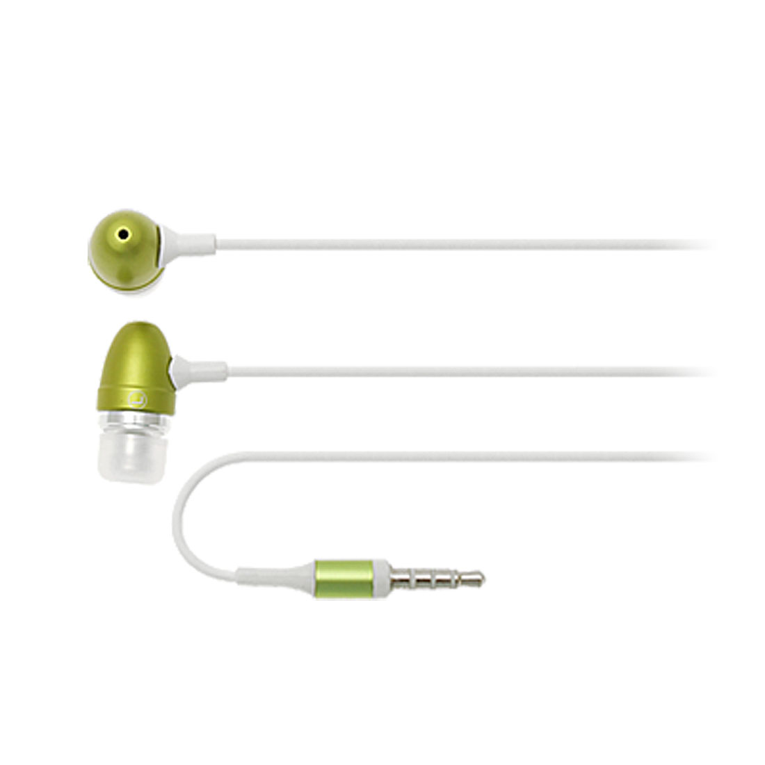 Clip Style In-Ear Earphone w. Mic for 3G Phone Green