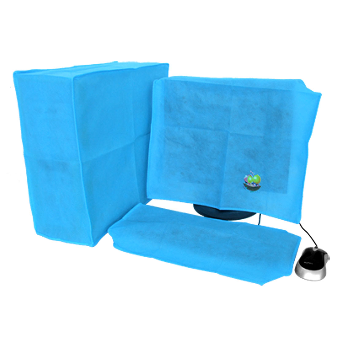 "17"" 19"" LCD Computer Nonwoven Fabric Dustproof Jacket Cover Blue"