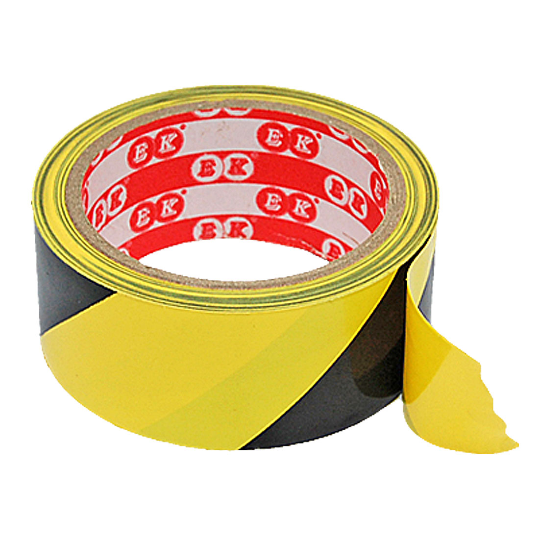 A Roll Yellow Black Plastic Adhesive Tape