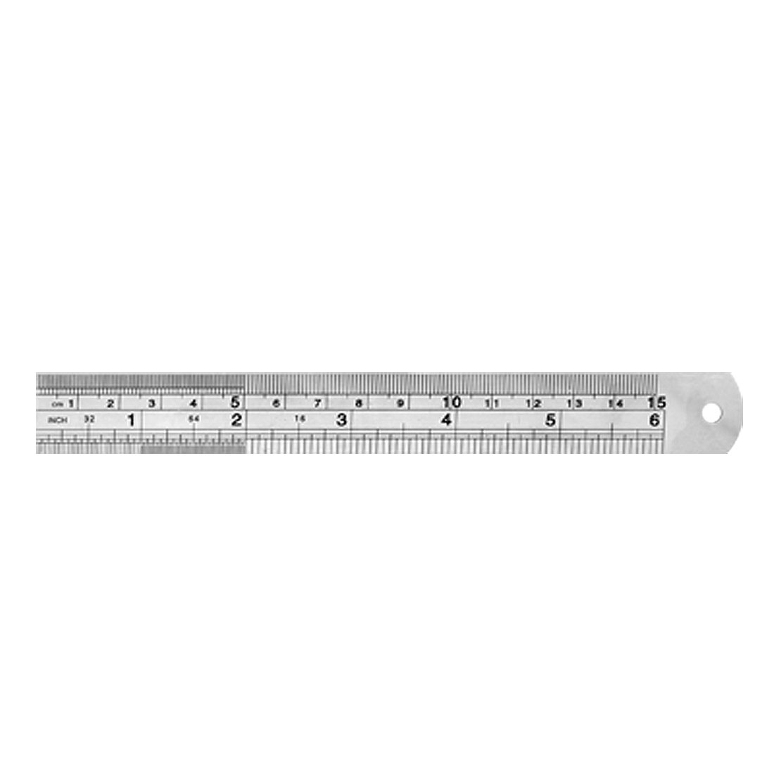 6Inch 15cm Stainless Steel Ruler w. Metric Function