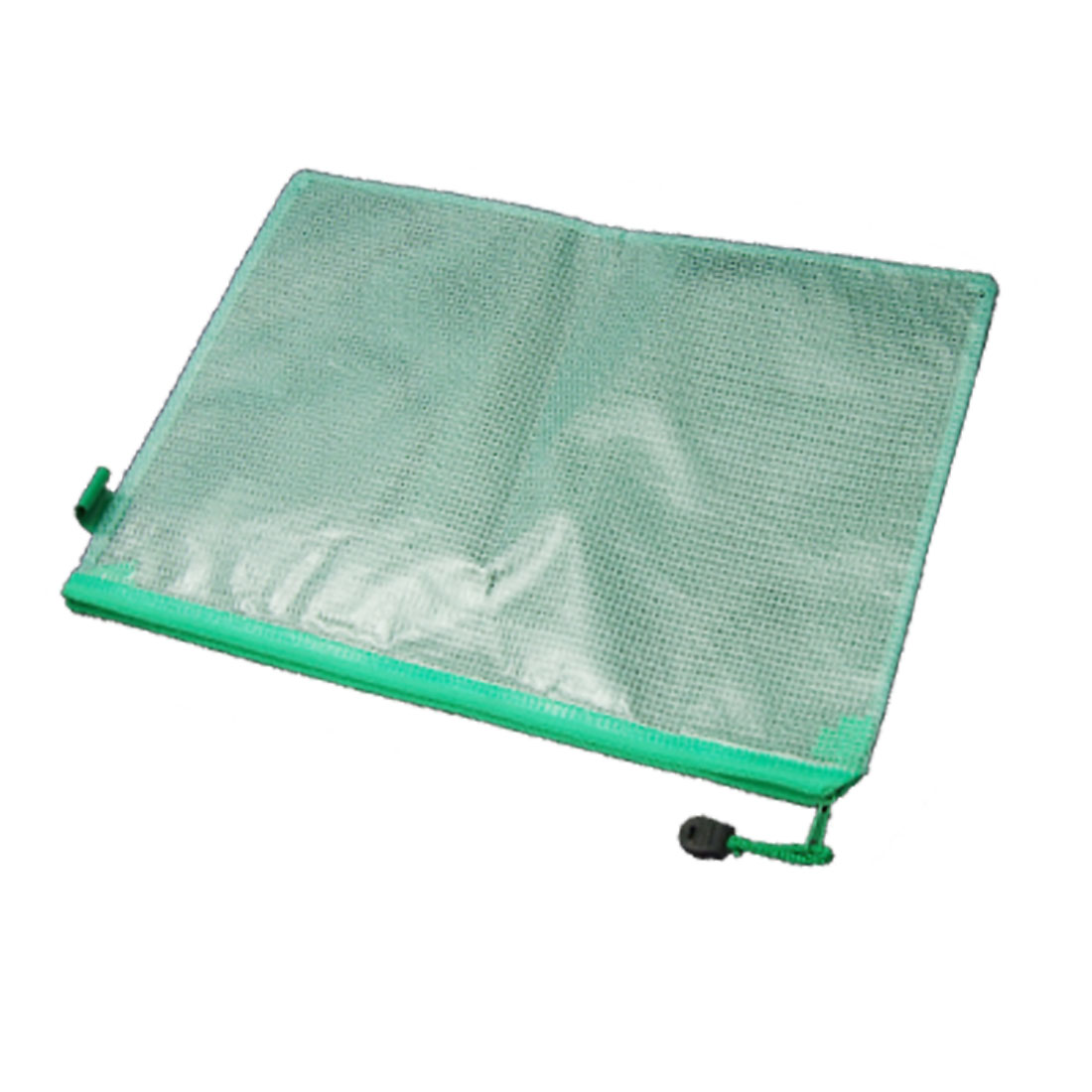 A4 Green Net Design Document File Folder Bag Zipper Closure