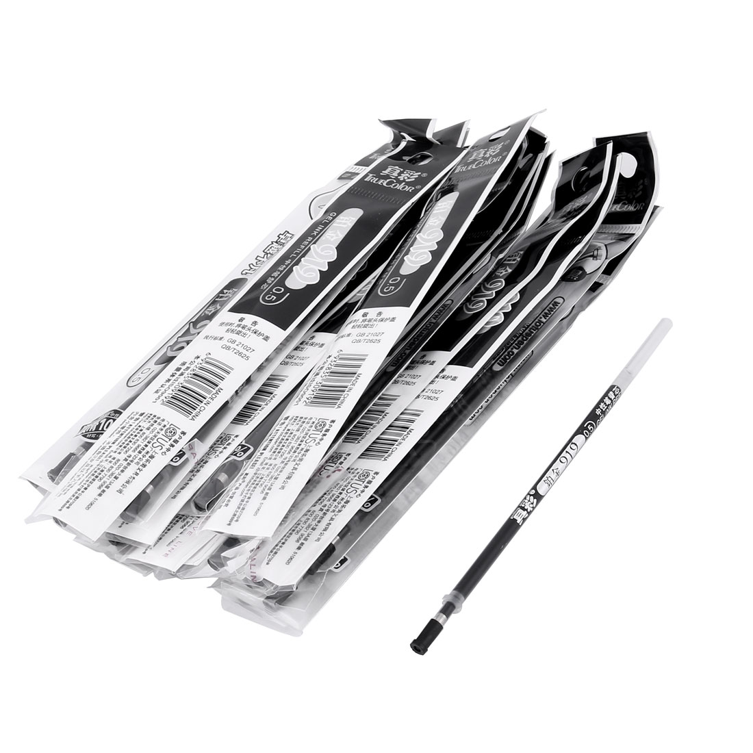 Stationery 0.5mm Tip Gel Black Ink Pen Refill x 20