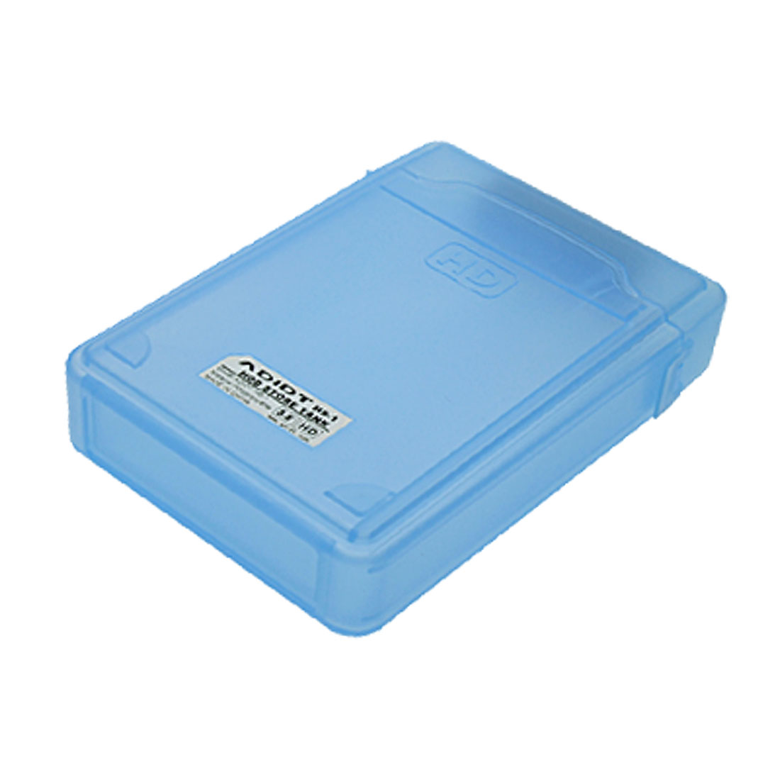 "Blue Plastic 3.5"" USB 2.0 Sata Hard Disk Drive HDD Enclosure Case IDE Pata"