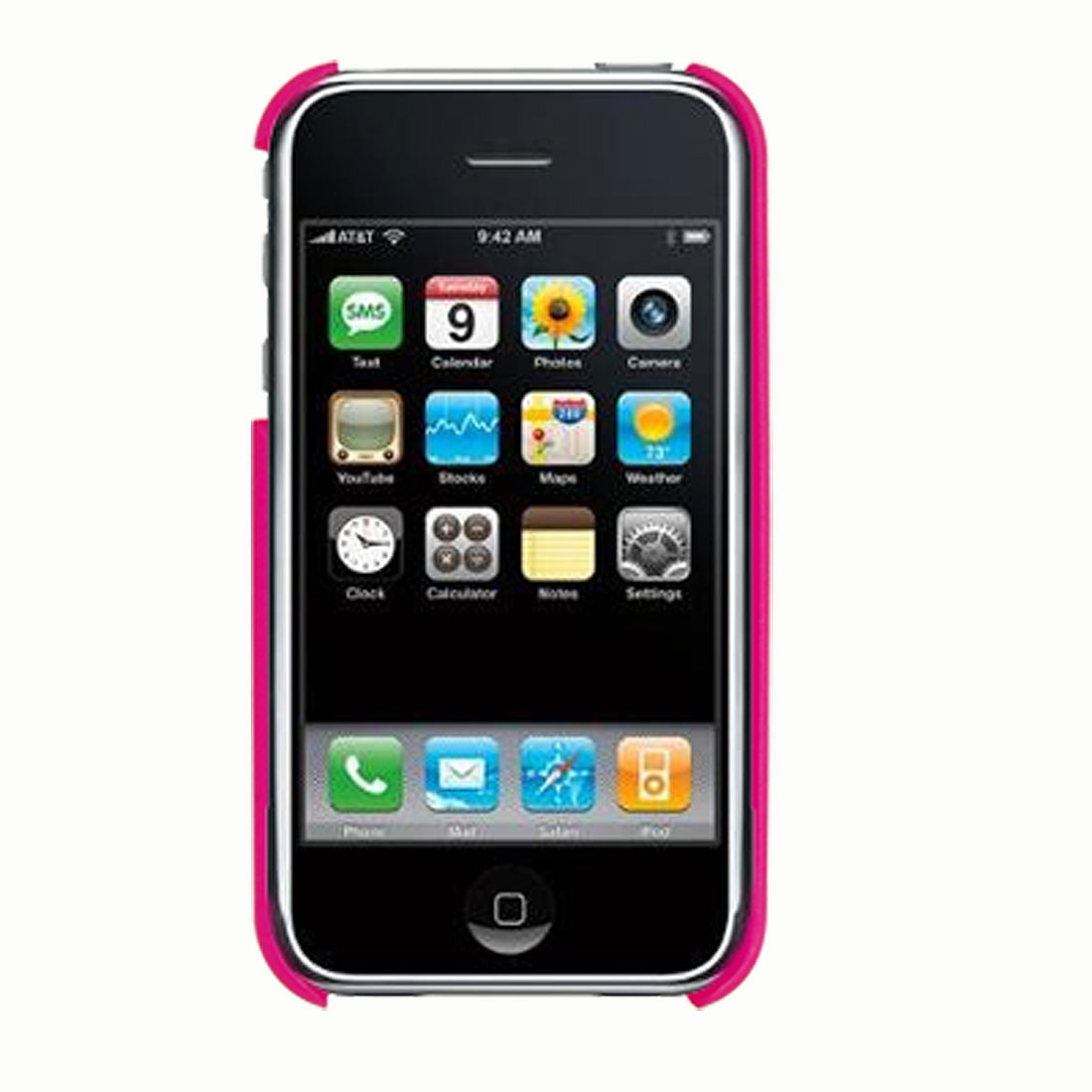 Mobile Hard Plastic Back Shield Case w/ Flame Pattern for iPhone 3G and 3G S