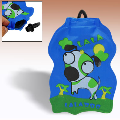Dog Design Kids Mini Hot Water Bag Bottle with Screw Cap