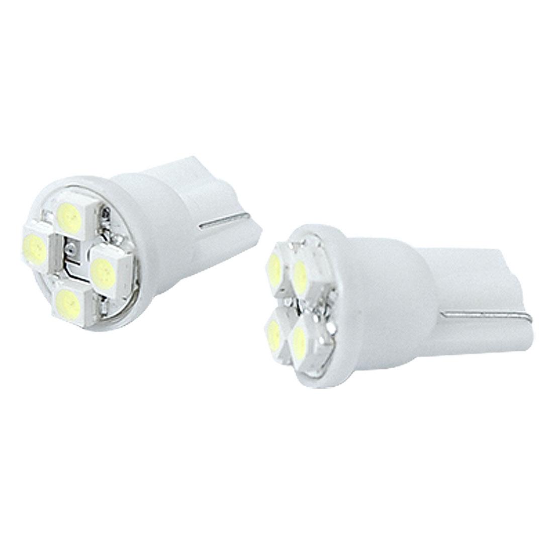DC 12V White 4 1210 SMD LED T10 W5W Car Wedge Light Tail Lamp Bulb 2 Pcs
