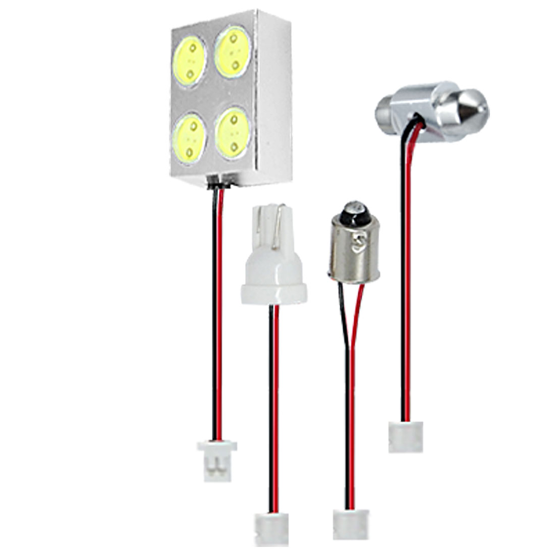 Universal Car Interior 4 LED T10 BA9S Festoon White Dome Light