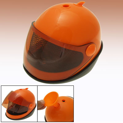 Motorcycle Helmet Portable Office Home USB Humidifier Orange