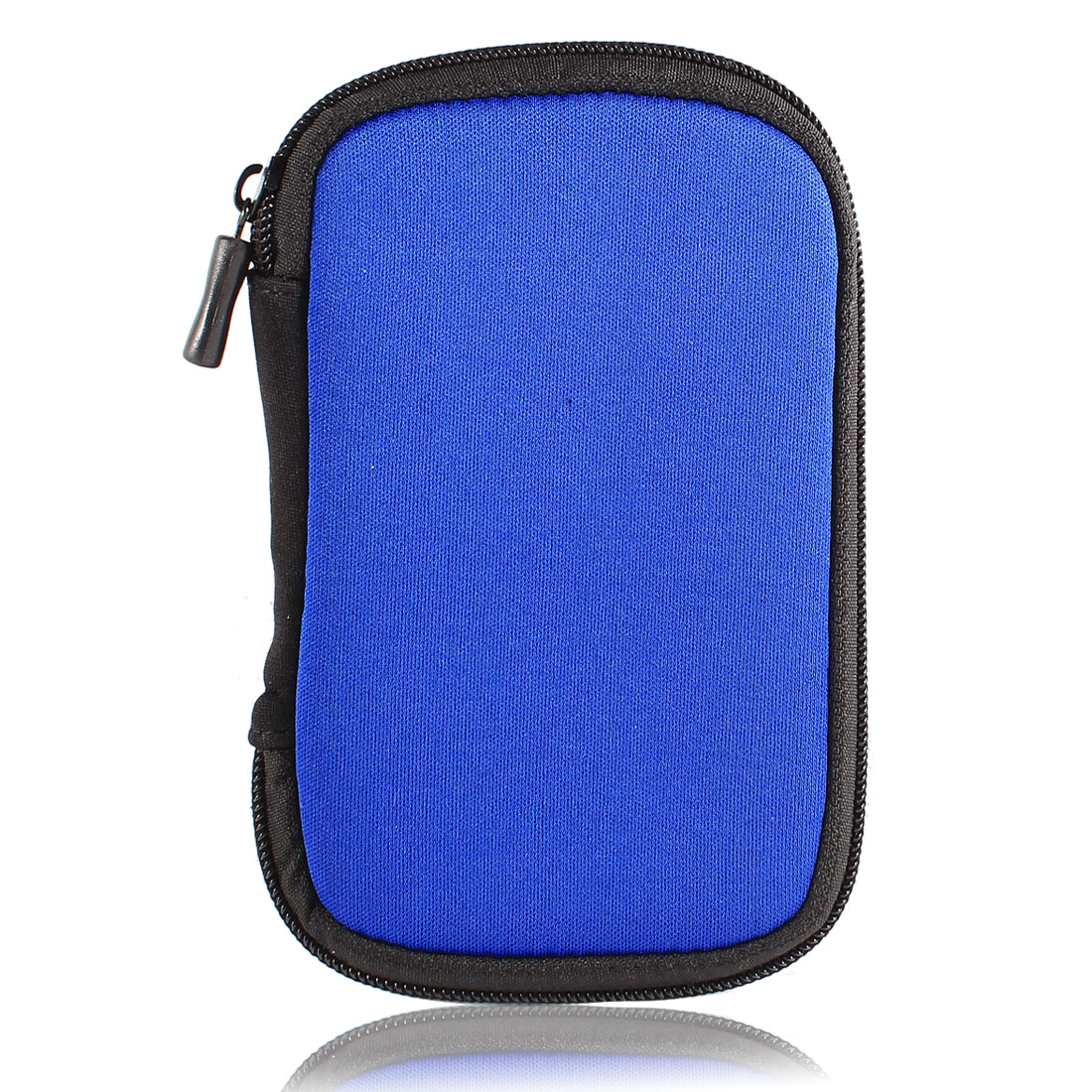 "2.5"" HDD Hard Drive Zip Portable Neoprene Sleeve Bag Carrying Case Blue"