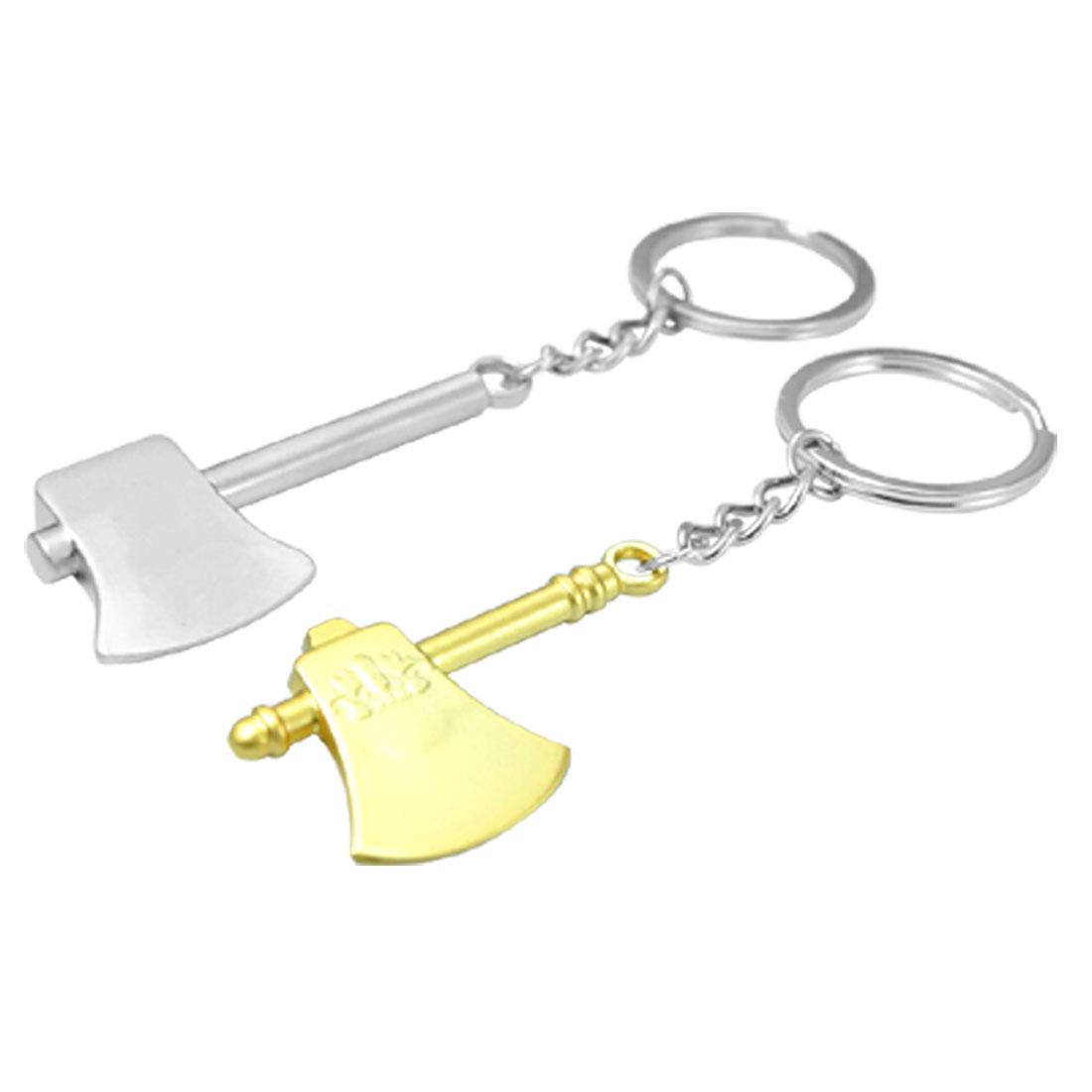 2PCS Decorative Ax Metal Key Chain