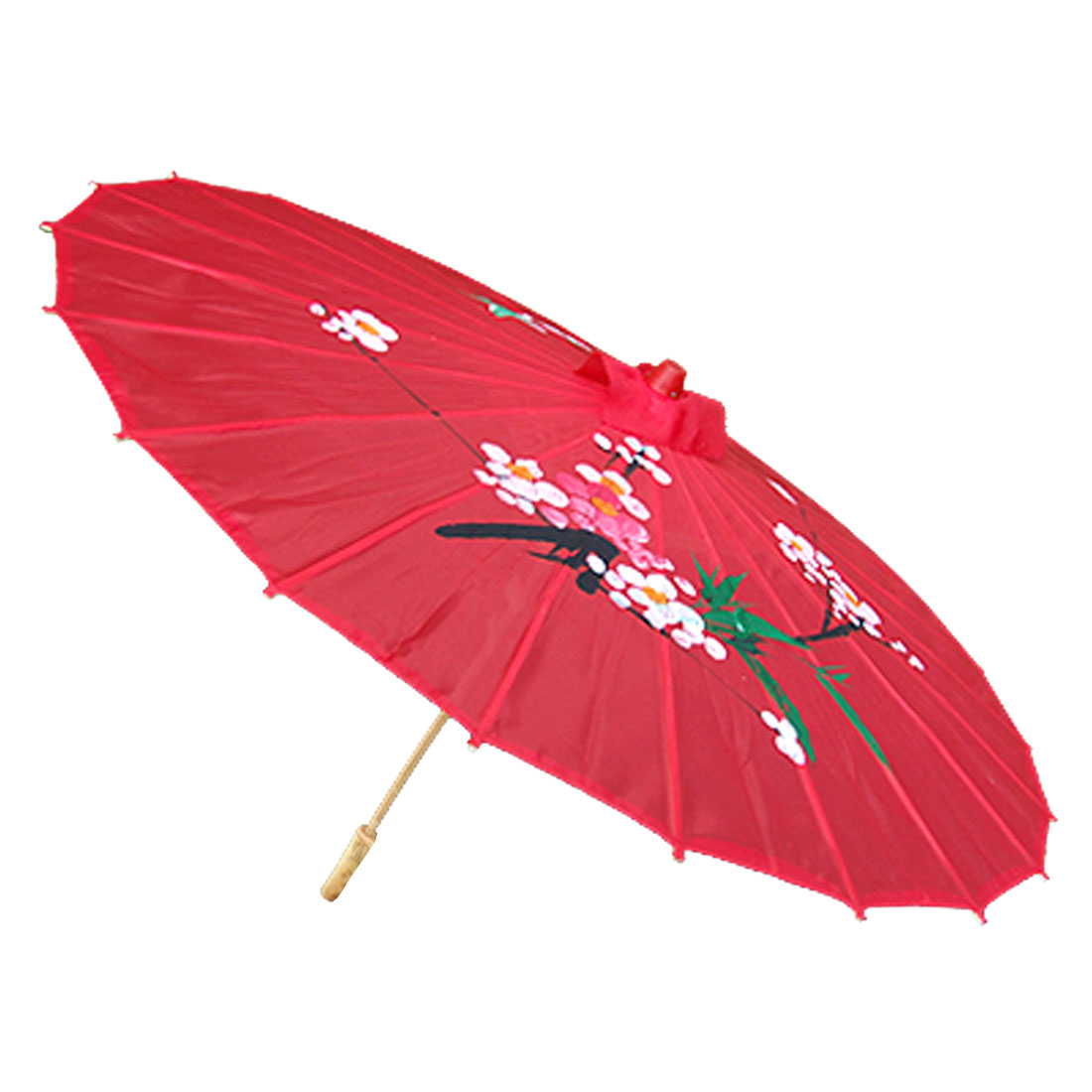 Pretty Ladies Red Rain Sun Classical Umbrella Flower Pattern