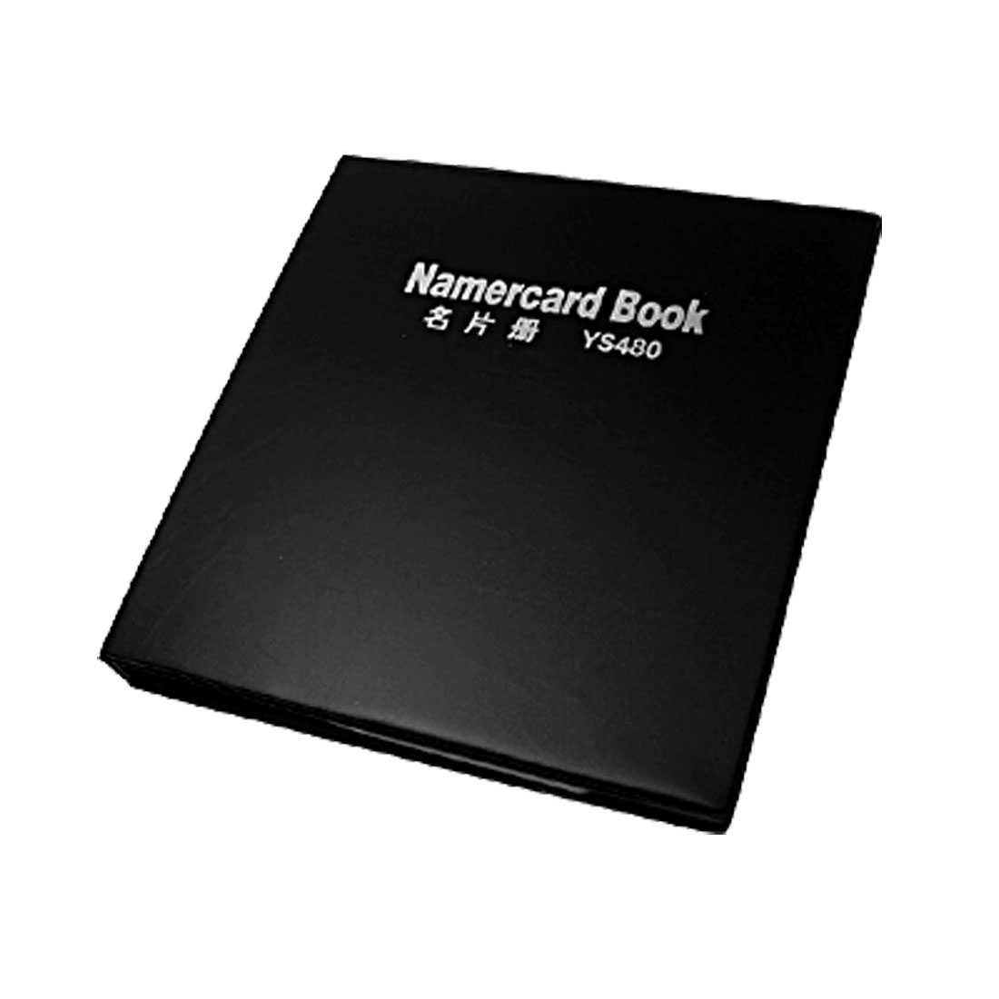 Black Leather Fashion Business Name Card Holder Book 480