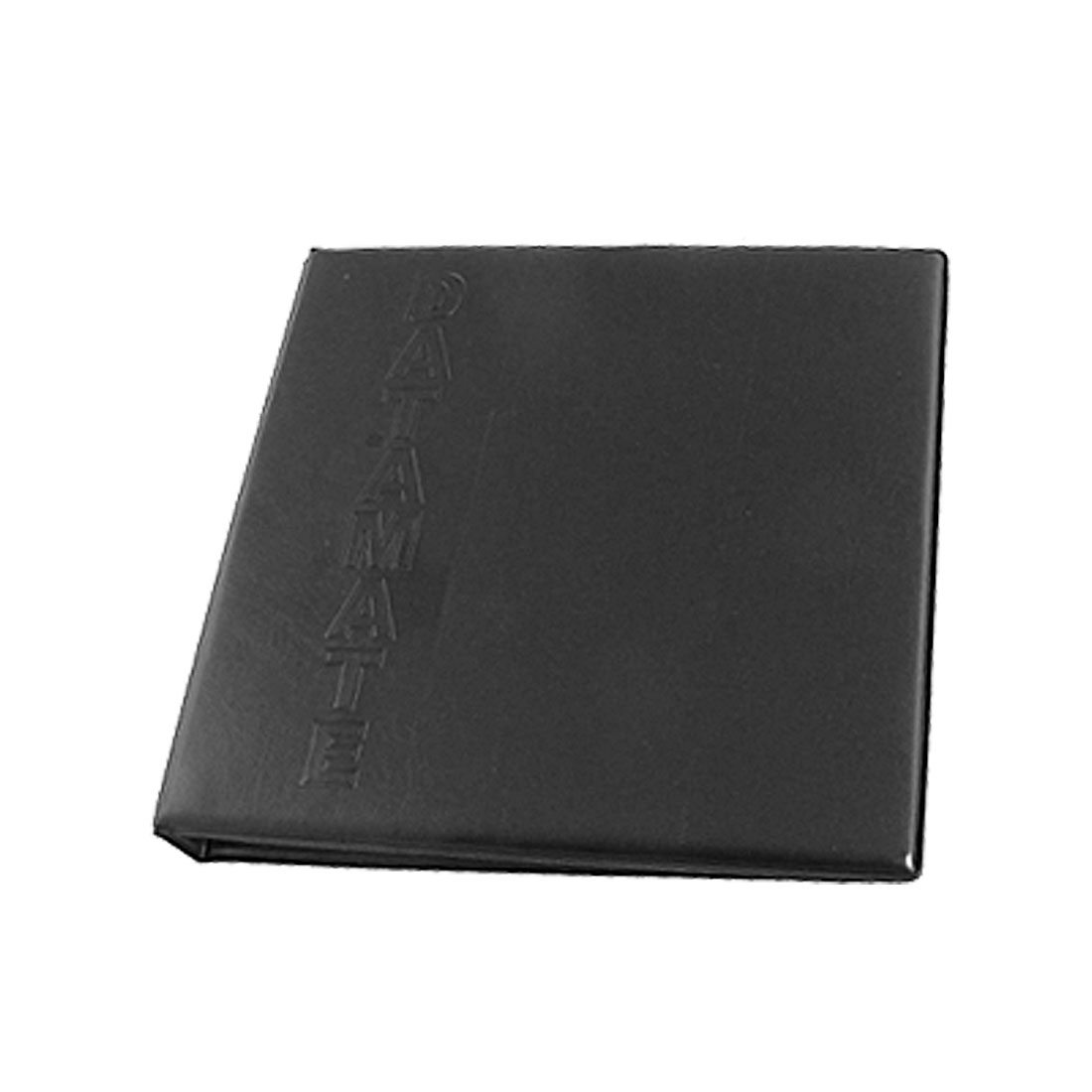 Black Leather 360 Business Name Card Book Holder