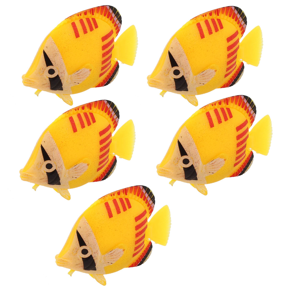 5 Pcs Stylish Plastic Floating Fish Ornament for Aquarium