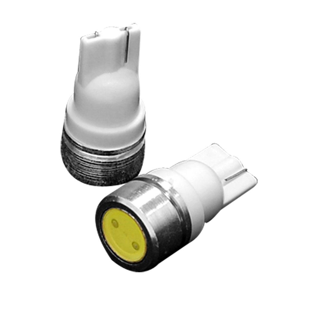Car T10 W5W 1-LED White SMD Lamp Bulb Auto Bright Light 2 Pcs