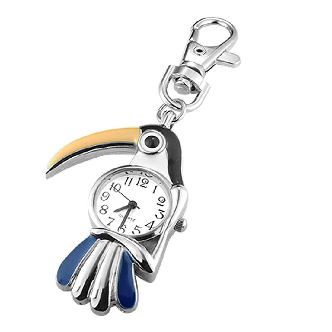 Woodpecker Round Watch Pendant Keychain Keyring